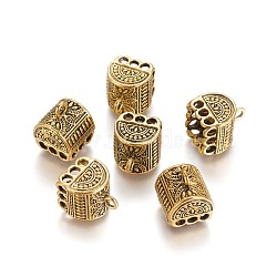 bails pendentif en alliage de style tibet, pompon bails, or antique, 16.5x13x13.5 mm, trou: 2.5~3 mm(PALLOY-L214-47AG)