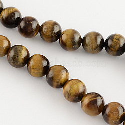 Natural Tiger Eye Round Bead Strands, 14mm, Hole: 1.2mm; about 28pcs/strand, 15.3inches