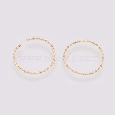 Brass Twisted Jump Rings(X-KK-T014-129G)-2