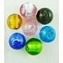 Handmade Silver Foil Glass Beads, Round, Mixed Color, about 8mm in diameter, hole: 1.5mm