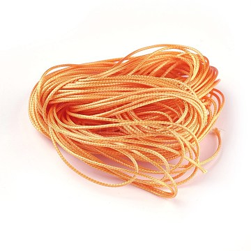 1mm Orange Waxed Polyester Cord Thread & Cord