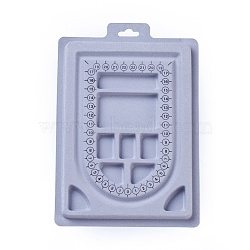 Plastic Bead Design Boards, Rectangle, Light Grey, 23x15.6x1.3cm(X-ODIS-L003-05)