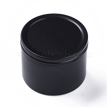 Round Aluminium Tin Cans, Aluminium Jar, Storage Containers for Cosmetic, Candles, Candies, with Screw Top Lid, Gunmetal, 5.1x4cm(X-CON-F006-04B)