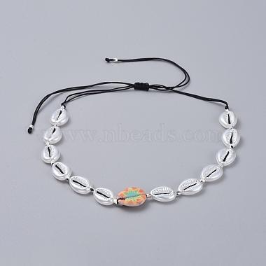 Adjustable Nylon Thread Braided Necklaces(NJEW-JN02705-M)-2