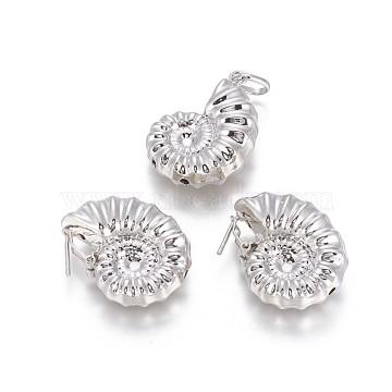 Shell Brass Stud Earrings & Pendants