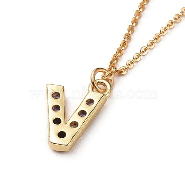 Letter Brass Micro Pave Cubic Zirconia Initial Pendants Necklaces(NJEW-JN02585-20)-3