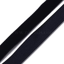 """3/8"""" Ruban de velours de simple face, noir, 3/8"""" (9.5 mm); environ 1.09 mètres / rive (1 m / brin)(X-OCOR-R019-9.5mm-003)"""