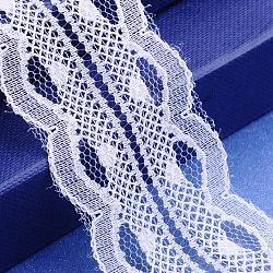 """Fil de nylon de garniture de dentelle pour la fabrication de bijoux, blanc, 1-5/8"""" (43 mm); 200yards / roll (182.88m / roll)(OCOR-I001-019)"""