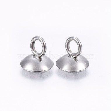 304 Stainless Steel Bead Cap Pendant Bails(STAS-I095-32P-C)-2