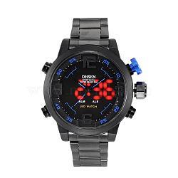 Мода из нержавеющей стали мужские наручные часы электронные, синие, 70 мм(WACH-I005-07D)
