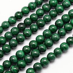 """Brins de perles naturelles de malachite, rond, 6mm, trou: 1mm; environ 72 pcs/chapelet, 15.7""""(G-O152-47-6mm)"""