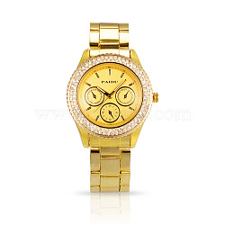 Валентина подарки дамы унисекс часы золотые нержавеющей Stee wristwatchl горный хрусталь бриллиантами кварцевые часы, 63 мм; голова часы: 38x45x11.5 мм; лицо часов: 28x28 мм(WACH-N004-06)