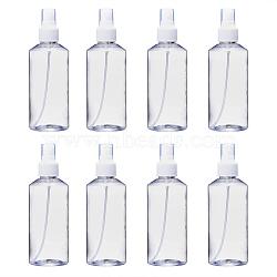 200ml Refillable PET Plastic Spray Bottles, Empty Pump Bottles for Liquid, Clear, 5.3x15.7cm, Capacity: 200ml(6.76 fl. oz)(TOOL-Q024-02C-01)