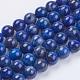 Natural Lapis Lazuli(Filled Color Glue) Beads Strands(X-G-K269-01-8mm)-1