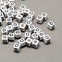 6mm Black Cube Acrylic Beads(X-SACR-Q103-6mm-01O)