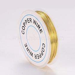 Fil de bijoux en cuivre, or, 0.6 mm; 6 m / rouleau(X-CWIR-CW0.6mm-07)