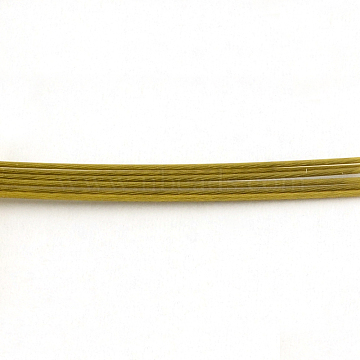 Tiger Tail Wire, Nylon-coated 201 Steel, Dark Goldenrod, 0.6mm, about 3608.92 Feet(1100m)/1000g(TWIR-S002-0.6mm-3)