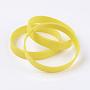 Jaune Silicone Bracelets(BJEW-J176-A-19)