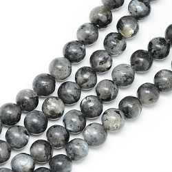 Natural Labradorite Bead Strands, Round, 4~5mm, Hole: 1mm; about 83~95pcs/strand, 14.6~15.3 inches(X-G-R345-4mm-33)