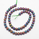 Electroplated Natural Agate Bead Strands(G-F343-09-6mm-08)-2