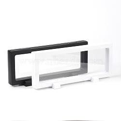 Supports de cadre en acrylique, avec membrane transprent, pour l'affichage de bijoux de collier, rectangle, couleur mixte, 23.1x9.5x4.4 cm(NDIS-L002-01)