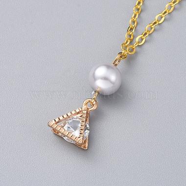Triangle Alloy Pendants Necklaces(X-NJEW-JN02565-02)-2