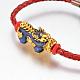 PU Leather Cord European Style Beaded Bracelets(BJEW-L639-09)-2