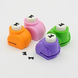 Kits de punchv de Mini embarcation en plastique pour scrapbooking et artisanat en papier, bowknot, couleur aléatoire, 33x26x31mm(AJEW-F003-03)
