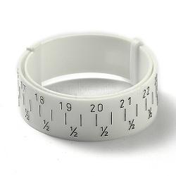 Plastic Wrist Sizer, Bracelet Bangle Gauge Sizer, Jewelry Wrist Size Measure Tool, White, 27.2x1.6cm(X-TOOL-L012-01)