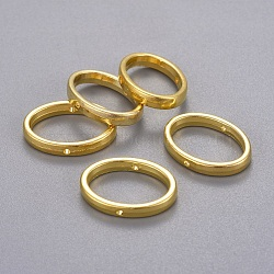 Cadres du perle en alliage, sans plomb et sans cadmium, ovale, dorée, longueur d'environ 19 mm ,  largeur de 14.5 mm, épaisseur de 3mm, Trou: 1mm(X-EA564Y-G)