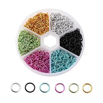 Mixed Color Ring Aluminum Close but Unsoldered Jump Rings
