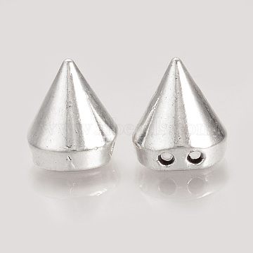 Tibetan Style Alloy Rivet Beads, Cadmium Free & Lead Free, Antique Silver, 12.5x11mm, Hole: 1.5mm; 8x7mm inner diameter; about 580pcs/1000g(TIBEP-S313-04AS-RS)