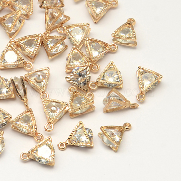 Light Gold Triangle Cubic Zirconia Charms