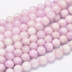 Round Natural Kunzite Beads Strands, Spodumene Beads, Grade A, 8mm, Hole: 1mm; about 49pcs/strand, 15.5inches(G-K068-26-8mm)