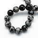 Natural Snowflake Obsidian Round Beads Strands(X-G-S172-10mm)-2