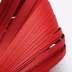 Bandes de papier quilling, firebrick, 530x5mm; à propos 120strips / sac(X-DIY-J001-5mm-B31)