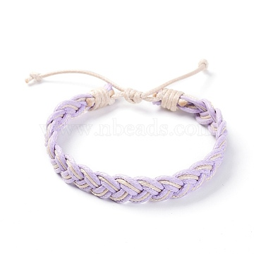 Lilac Waxed Cord Bracelets