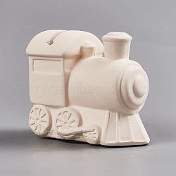 Cadeau créatif de gypse, enfants bricolage peint tirelire embryon blanc, suite, blanc antique, 8x4.4x6.9 cm(DIY-WH0093-03)