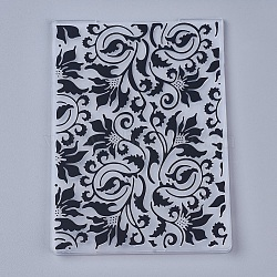 Tampon en plastique transparent transparent, pour scrapbooking bricolage / album photo décoratif, feuilles de timbres, vignes, noir, 14.6x10.5x0.3 cm(DIY-WH0110-04B)