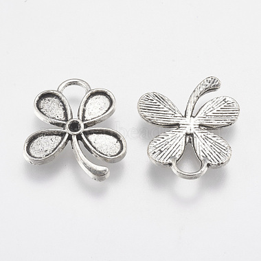 Tibetan Style Alloy Flower Pendant Cabochon and Rhinestone Settings(X-TIBEP-A369217-AS-RS)-2