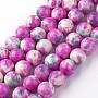 Deep Pink Round White Jade Beads(A-G-G916-10mm-06)