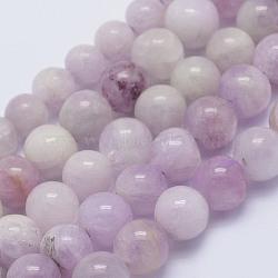 """Chapelets perles en kunzite/spodumène naturelle, rond, a- année, 6~6.5mm, trou: 1mm; environ 64 pcs/chapelet, 15.5"""" (39.5 cm)(G-L478-13-6mm)"""