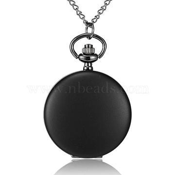 Black Iron+Alloy Quartz Watch