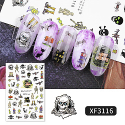 Self-Adhesive Nail Art Stickers, For Nail Tips Decorations, Hallowmas Theme, Colorful, 152x83mm