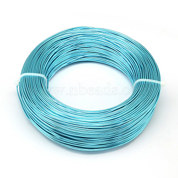 Aluminum Wire, Bendable Metal Craft Wire, for DIY Jewelry Craft Making, Dark Turquoise, 9 Gauge, 3.0mm; 25m/500g(82 Feet/500g)(AW-S001-3.0mm-02)