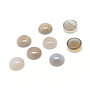 Half Round Natural Agate Cabochons(G-T020-16mm-12)