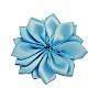 ручной тканые аксессуары костюма, цветок, lightskyblue, 37x37x7 mm